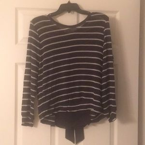 Anthropologie sweater with back ruffle